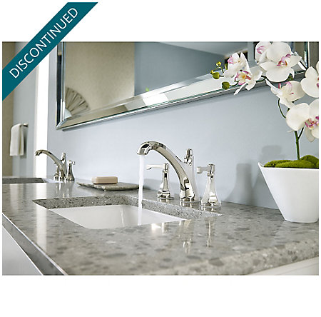 "Polished Nickel Arterra 8"" Widespread Lavatory Faucet - GT49-DE0D - 3"