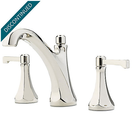"Polished Nickel Arterra 8"" Widespread Lavatory Faucet - GT49-DE0D - 1"