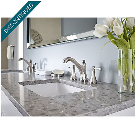 "Brushed Nickel Arterra 8"" Widespread Lavatory Faucet - GT49-DE0K - 2"