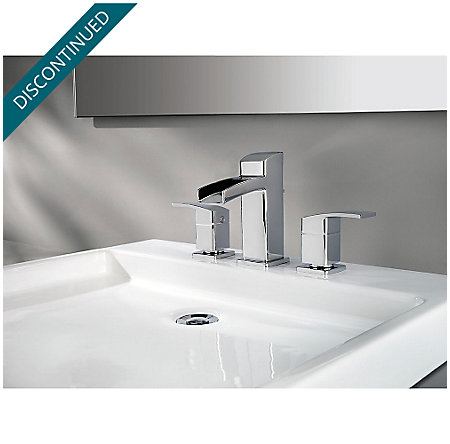 Polished Chrome Kenzo Widespread Bath Faucet - GT49-DF0C - 2