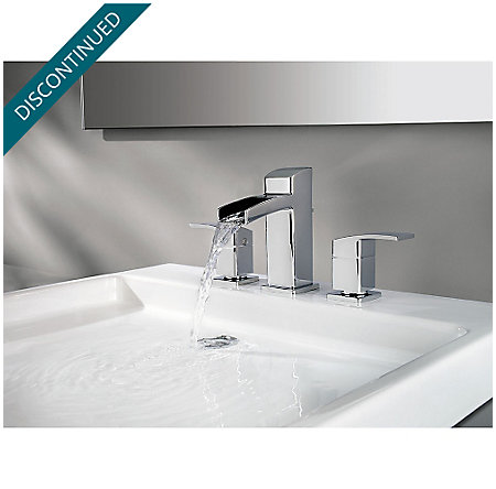 Polished Chrome Kenzo Widespread Bath Faucet - GT49-DF0C - 3