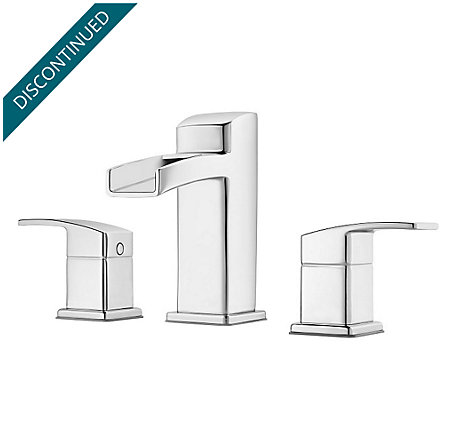 Polished Chrome Kenzo Widespread Bath Faucet - GT49-DF0C - 1