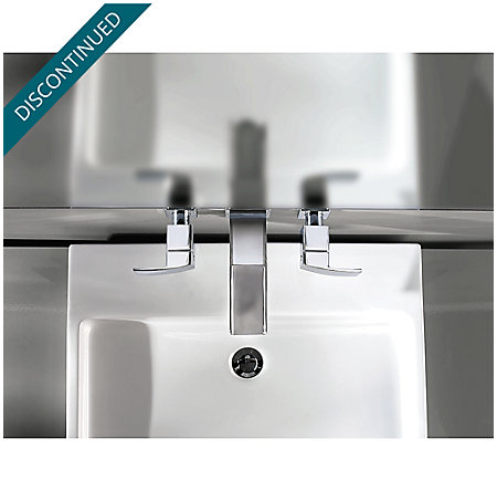 Brushed Nickel Kenzo Wall Mount Widespread Trough Bath Faucet - GT49-DF1K - 5