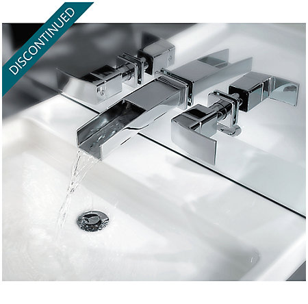 Brushed Nickel Kenzo Wall Mount Widespread Trough Bath Faucet - GT49-DF1K - 8