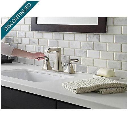 Brushed Nickel Park Avenue Widespread Bath Faucet - GT49-FE0K - 3