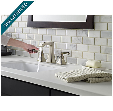 Brushed Nickel Park Avenue Widespread Bath Faucet - GT49-FE0K - 4