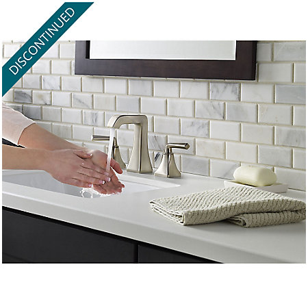 Brushed Nickel Park Avenue Widespread Bath Faucet - GT49-FE0K - 5
