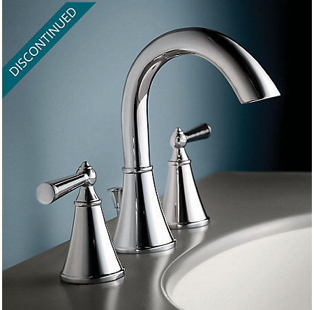 Polished Chrome Saxton Widespread Bath Faucet - T49-GL0C - 2