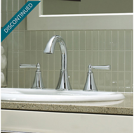 Polished Chrome Saxton Widespread Bath Faucet - T49-GL0C - 3