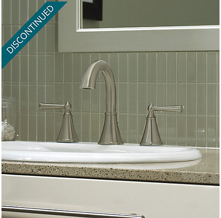 Brushed Nickel Saxton Widespread Bath Faucet - T49-GL0K - 2