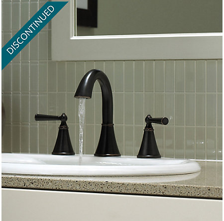 Tuscan Bronze Saxton Widespread Bath Faucet - T49-GL0Y - 2