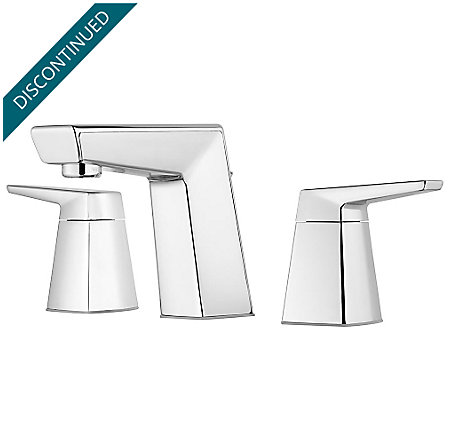 "Polished Chrome Arkitek 8"" Widespread Lavatory Faucet - GT49-LPMC - 1"