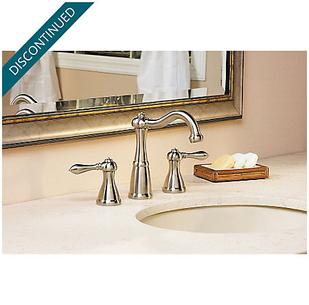 Brushed Nickel Marielle Widespread Bath Faucet - GT49-M0BK - 2