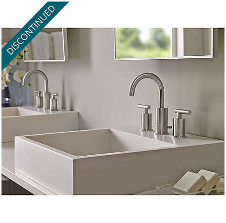 Brushed Nickel Contempra Widespread Bath Faucet - GT49-NC1K - 2