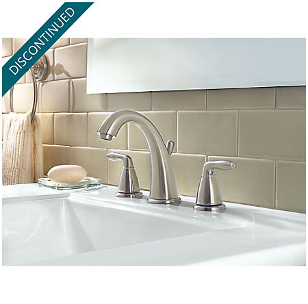 Brushed Nickel Serrano Widespread Bath Faucet - GT49-SR0K - 2