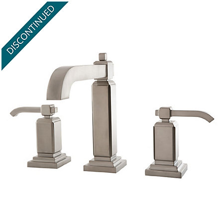 Brushed Nickel Carnegie Widespread Bath Faucet - LG49-WE0K - 1