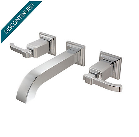 Polished Chrome Carnegie Wall Mount Bath Faucet - GT49-WE1C - 1
