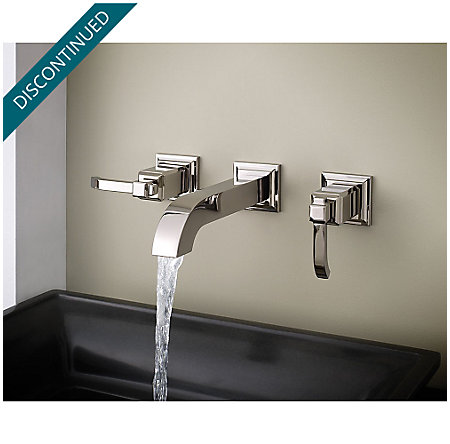 Polished Nickel Carnegie Wall Mount Bath Faucet - GT49-WE1D - 3