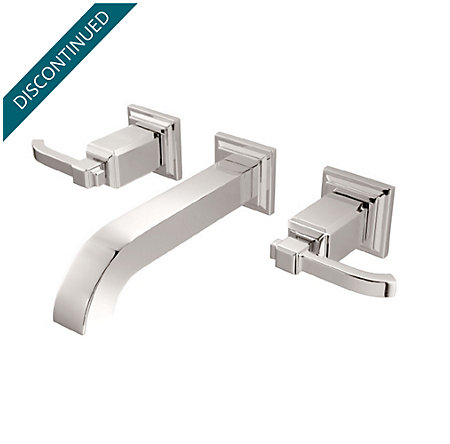 Polished Nickel Carnegie Wall Mount Bath Faucet - GT49-WE1D - 1