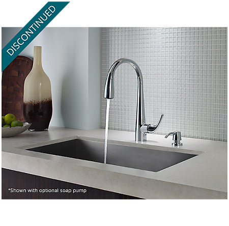 Polished Chrome Alea Pull-Down Kitchen Faucet - GT529-ALC - 5