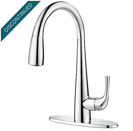 Polished Chrome Alea Pull-Down Kitchen Faucet - GT529-ALC - 2