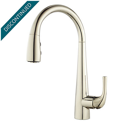 Polished Nickel Alea Pull-Down Kitchen Faucet - GT529-ALD - 1