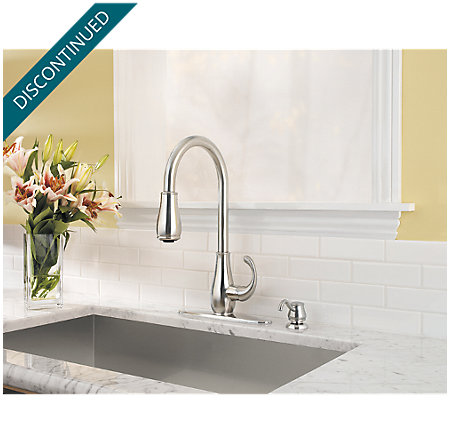 Stainless Steel Treviso 1-Handle, Pull-Down Kitchen Faucet - GT529-DSS - 3
