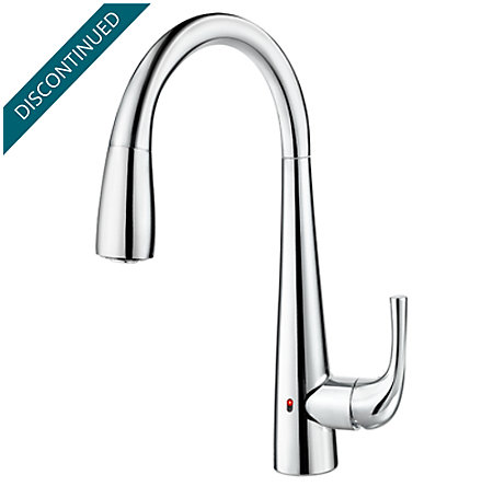 Polished Chrome Alea Touch-Free Pull-Down Kitchen Faucet with React™ - GT529-EAC - 1