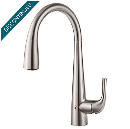 Stainless Steel Alea Touch-Free Pull-Down Kitchen Faucet with React™ - GT529-EAS - 1