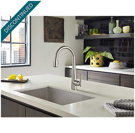 Stainless Steel Lita Touch-Free Pull-Down Kitchen Faucet with React™ - GT529-ELS - 2