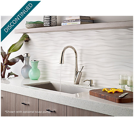 Polished Nickel Zuri Pull-Down Kitchen Faucet - GT529-MPD - 4