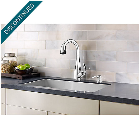 Polished Chrome / Black Nia Pull-Down Kitchen Faucet - GT529-NIC - 3
