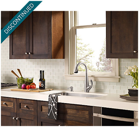 Stainless Steel / Black Nia Pull-Down Kitchen Faucet - GT529-NIS - 7