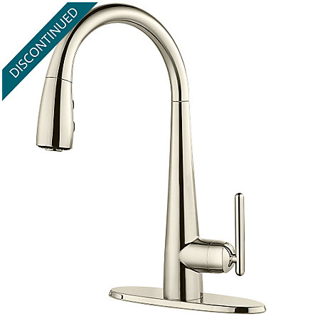 Polished Nickel Lita 1 Handle Pull Down Bar and Prep Faucet - GT72-SMDD - 2