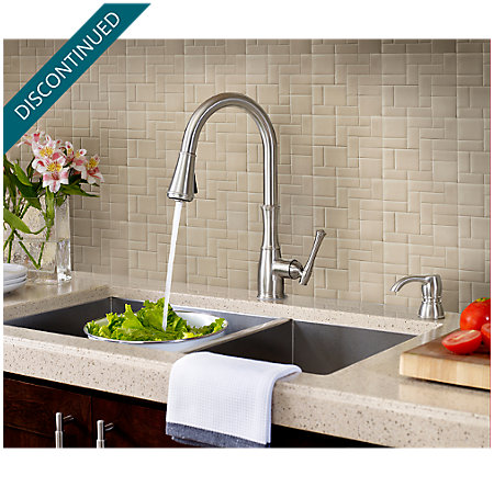 Stainless Steel Wheaton Pull-Down Kitchen Faucet - GT529-WHS - 4