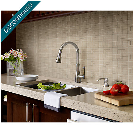 Stainless Steel Wheaton Pull-Down Kitchen Faucet - GT529-WHS - 5