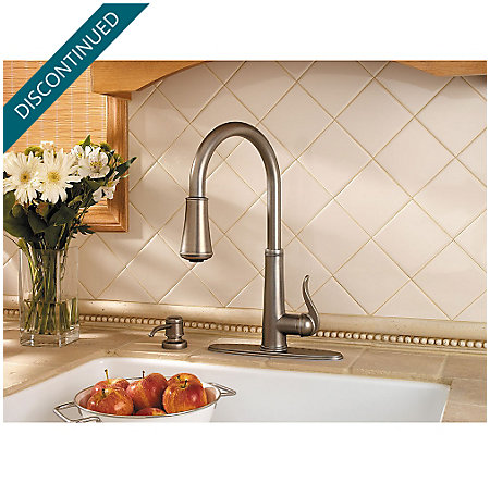 Rustic Pewter Ashfield 1-Handle, Pull-Down Kitchen Faucet - GT529-YPE - 5