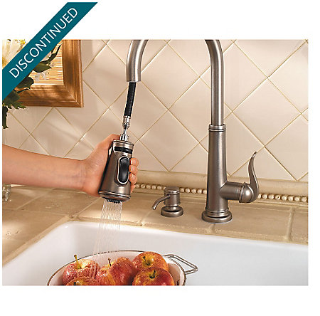 Rustic Pewter Ashfield 1-Handle, Pull-Down Kitchen Faucet - GT529-YPE - 8