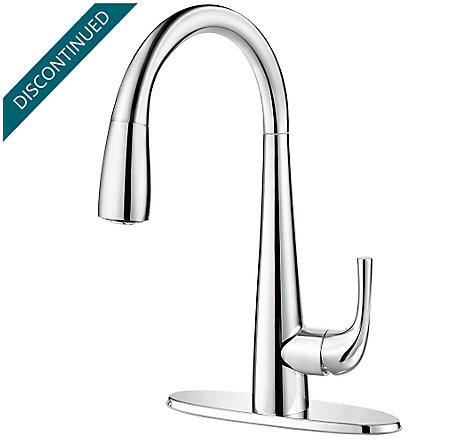 Polished Chrome Alea 1-Handle Pull Down Bar and Prep Faucet - GT72-ALCC - 2