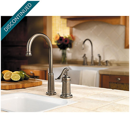 Rustic Pewter Ashfield Bar/Prep Kitchen Faucet - GT72-YP2E - 2