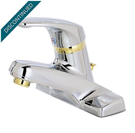 Polished Chrome / Polished Brass 100 Series Centerset, Single Control Bath Faucet - J13-0MB0 - 1