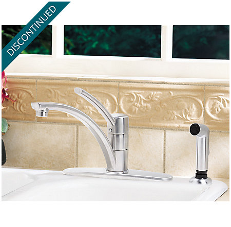 Stainless Steel Parisa 1-Handle, Pull-Out Kitchen Faucet - J34-4NSS - 2