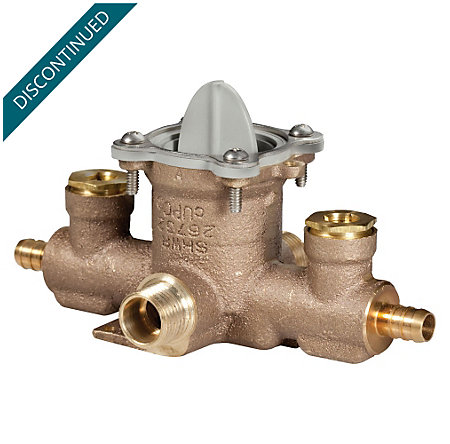 Unfinished Tub And Shower Valve Body - JV8-340P - 1
