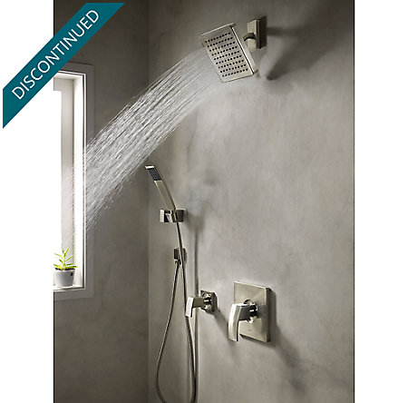 Brushed Nickel Kenzo Raincan Showerhead - 973-036J - 2