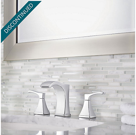 Polished Chrome Venturi Widespread Bath Faucet - F-049-VNCC - 2