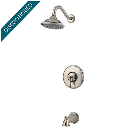 Brushed Nickel Langston 1-Handle Tub and Shower, Complete with Valve - MP8-LNKK - 1