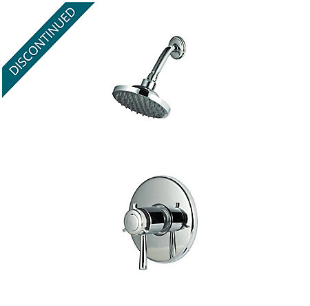 Polished Chrome Pfister Series 1-Handle Shower, Trim Only - R89-7TUC - 1