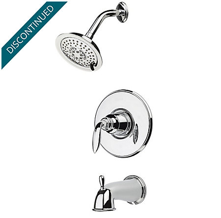 Polished Chrome Avalon 1-Handle Tub & Shower, Trim Only - R89-8CBC - 1