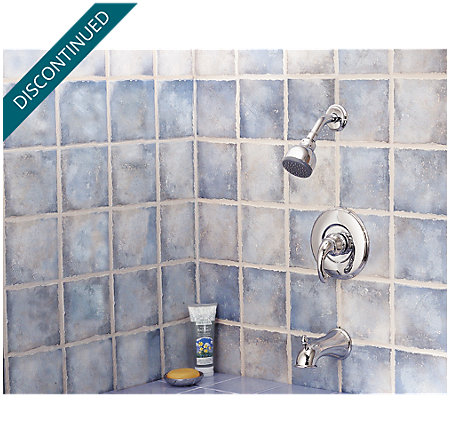 Polished Chrome Treviso 1-Handle Tub & Shower, Trim Only - R89-8DC0 - 2