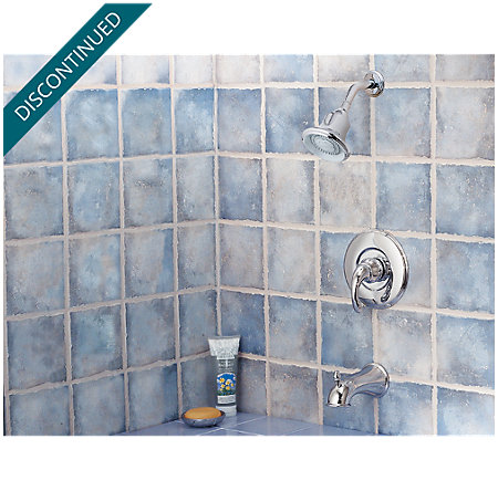 Polished Chrome Treviso 1-Handle Tub & Shower, Trim Only - R89-8DC0 - 3